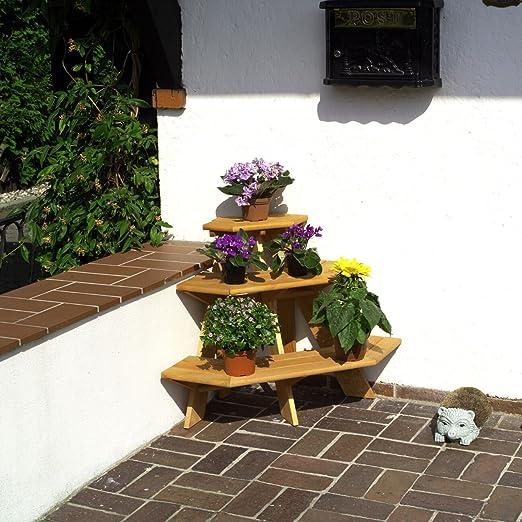Flores Escaleras esquineras Madera Marrón 87 x 59 x 62 cm madera ...