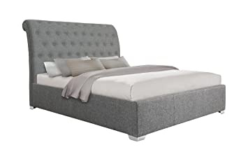 Astonishing Otto Garrison Opulent Extra Tall Scroll Fabric Extra Storage Ottoman Bed King Size Grey Ocoug Best Dining Table And Chair Ideas Images Ocougorg