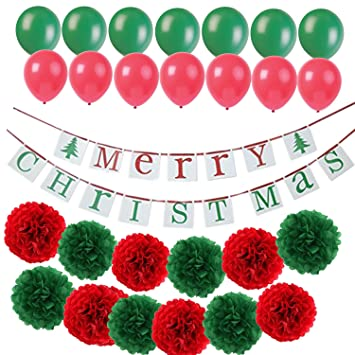 kubert merry christmas banner bunting kit wartoon happy birthday hanging party decorations banner flags piece - Merry Christmas And Happy Birthday