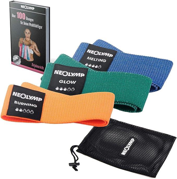 NEOLYMP Banda DE Fitness Premium para lOS Profesionales + Ancla para Puerta, Banda ELÁSTICA, Banda Entrenamiento para Pilates/Crossfit