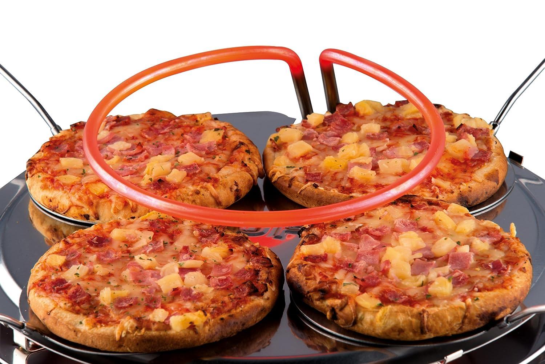 s Horno para pizzas 6 pizza Naranja fabricante de pizza y hornos , 5 min, Negro, Naranja, 1000 W, 50 Hz, 440 mm s 1000W Negro Trebs PizzaGusto 6pizza
