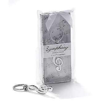 Llavero con notas musicales, clave de sol, idea de regalo ...