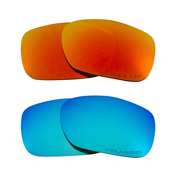 ba31ebfdaa Image Unavailable. Image not available for. Color  TWOFACE Replacement  Lenses Polarized Blue   Red by SEEK fits OAKLEY Sunglasses