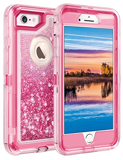 Coolden Case for iPhone 6S Plus Case Protective Glitter Case for Women  Girls Cute Floating Liquid 03bfaa5e16