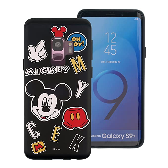 check out b2ab8 0bc37 Galaxy S9 Plus Case, Disney Cute Mickey Mouse Layered Hybrid [TPU + PC]  Bumper Cover [Shock Absorption] for Samsung Galaxy S9 Plus - Icon Mickey  Mouse