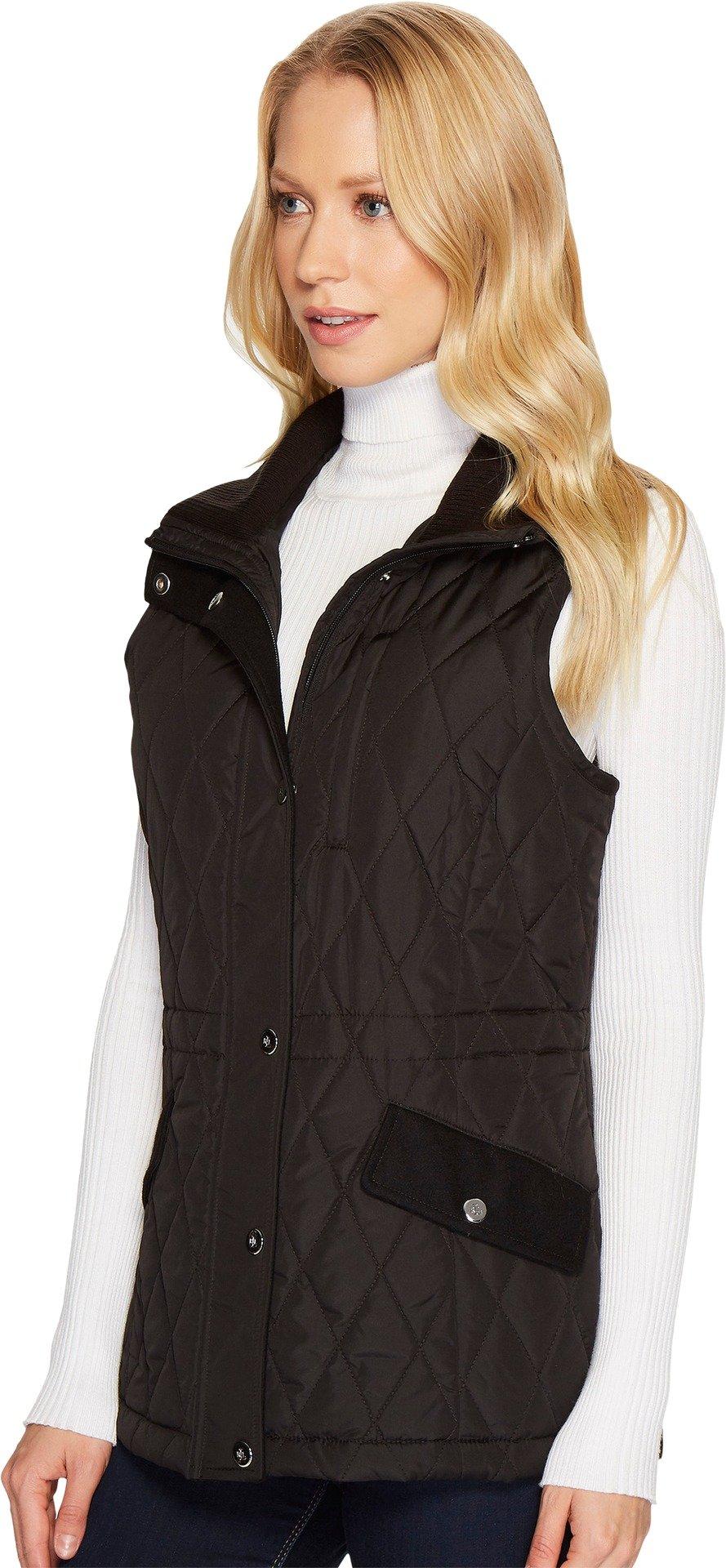 LAUREN Ralph Lauren Womens Vest w/ Wool Combo Black SM One Size by Lauren by Ralph Lauren (Image #2)