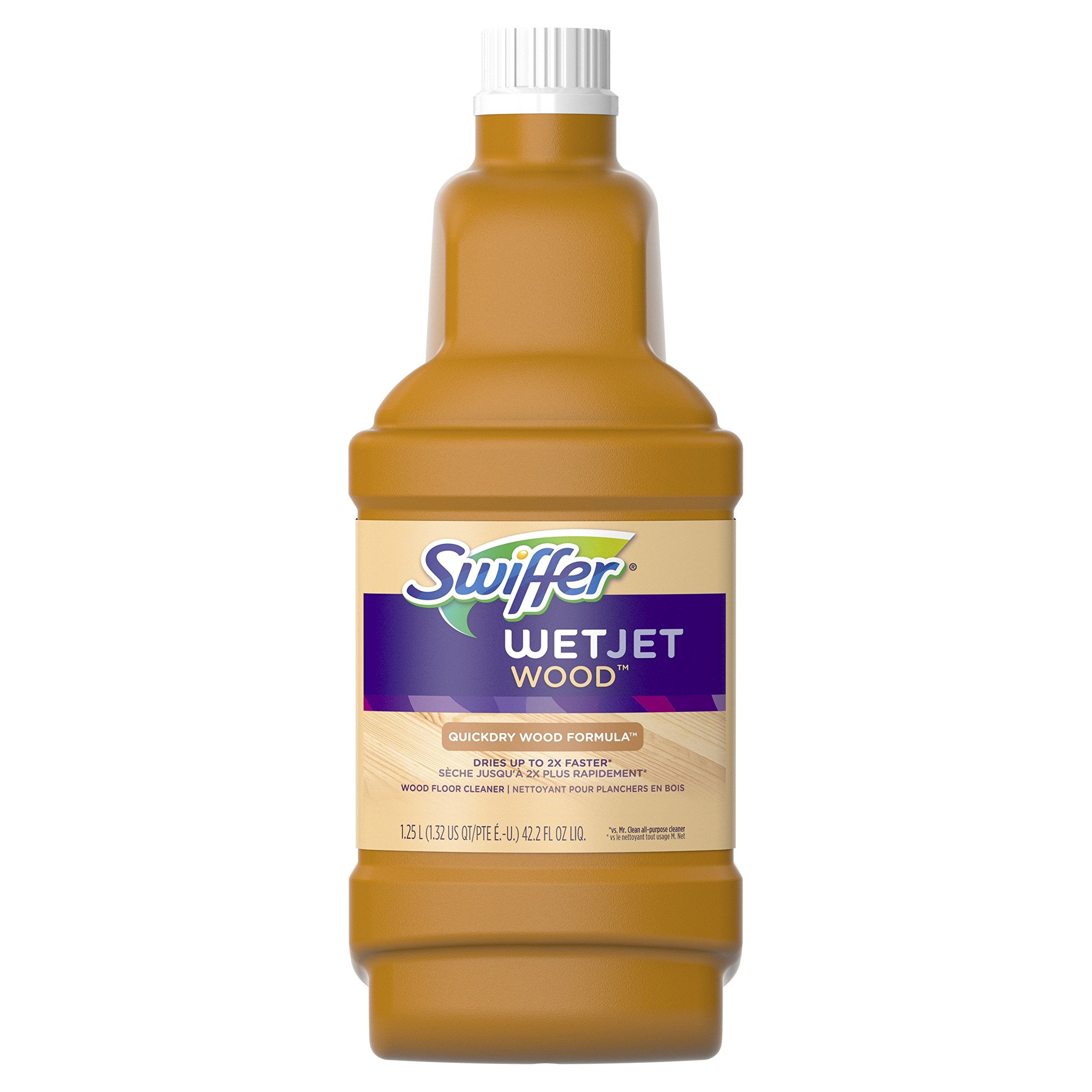 Swiffer WetJet Multi-purpose Hardwood Floor Cleaner Solution Refill, 1.25L (Packaging May Vary)