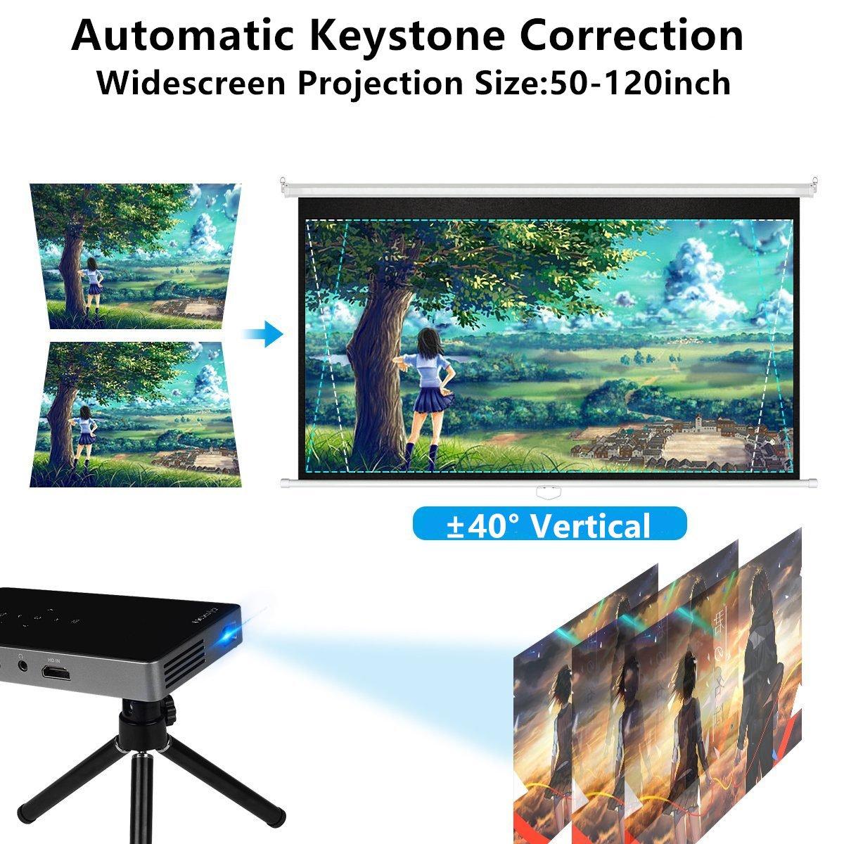Amazon.com: Mileagea CXP650 Smart Pico Video Projector Portable WXGA ...