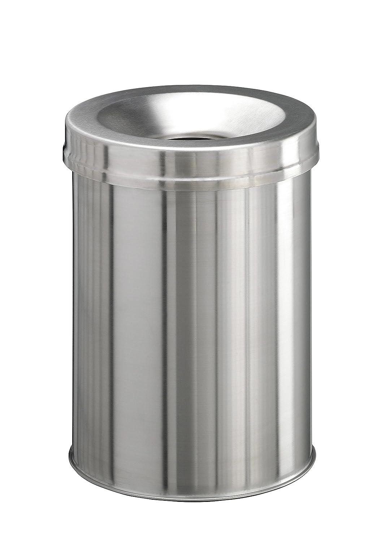 Durable 3376 - Cubo de basura (260 mm, 260 mm, mm) 375 mm) mm, Metálico 16272e