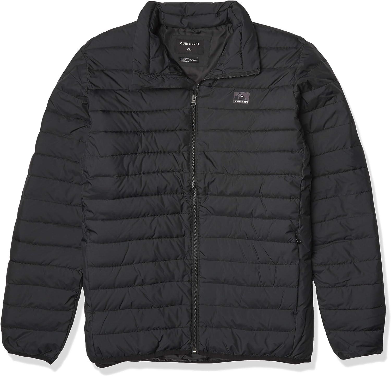M Black Quiksilver Mens Scaly Full Zip Jacket