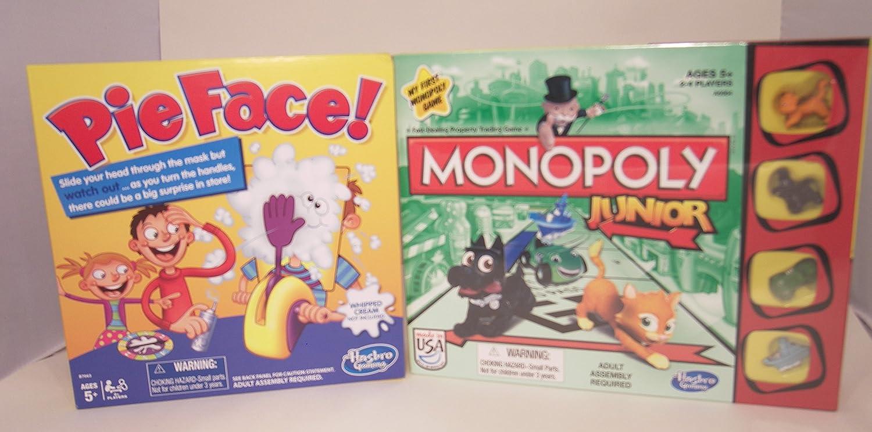 Hasbro Pie Face and Monopoly Jr. Juego de Mesa Familiar: Amazon.es: Juguetes y juegos