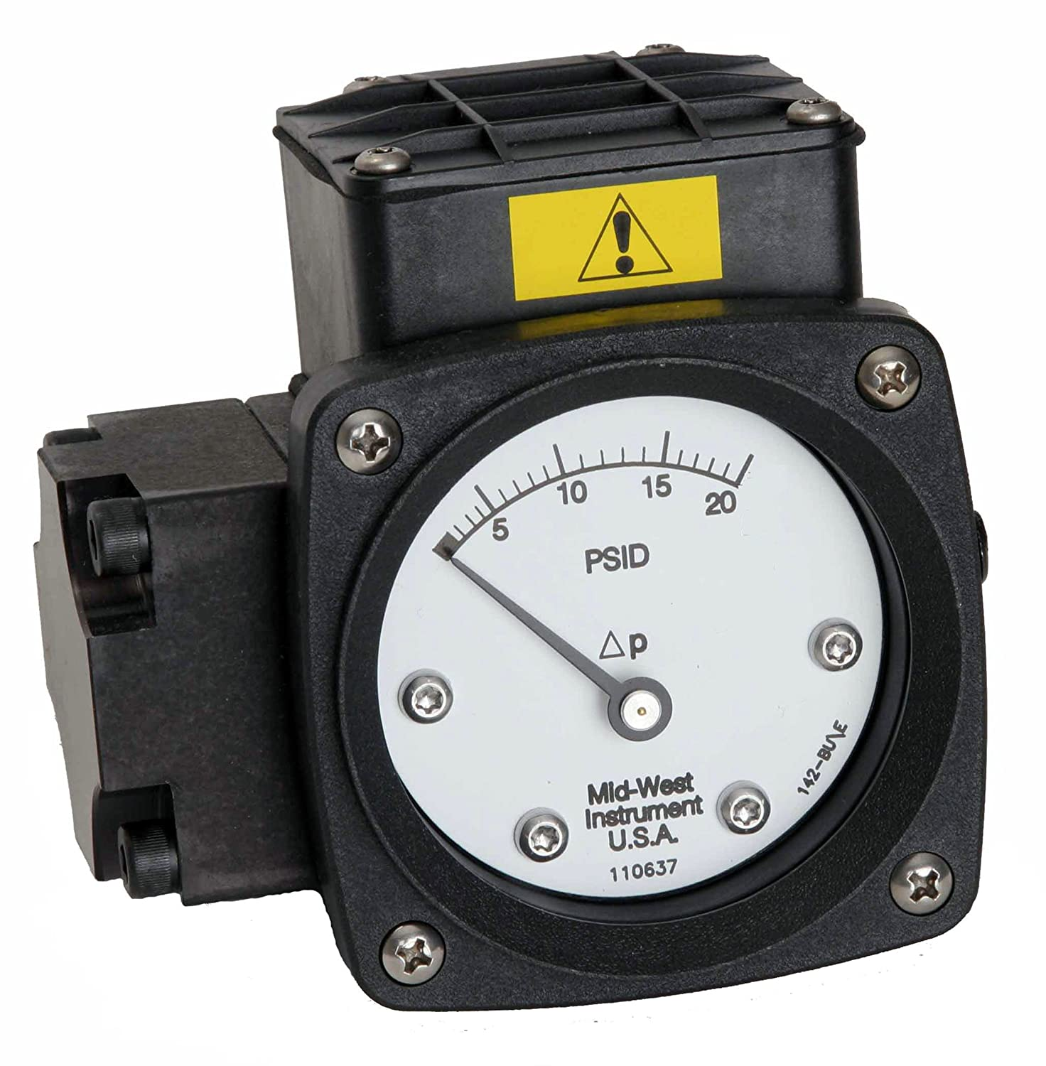 AA 2-1//2 Dial Mid-West 142-AA-00-O 1//4 FNPT Back Connection 0-20 IN H2O Range 1 Reed Switch in NEMA 4X//IP66 Enclosure Diaphragm Type 3//2//3/% Full Scale Accuracy -20H Differential Pressure Gauge with Aluminum Body and 316 Stainless Steel Internals 3