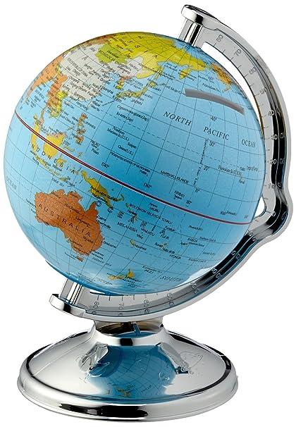 Globus Weltkugel Karte.Spardose Globus Weltkugel Drehbar Amazon De Küche Haushalt