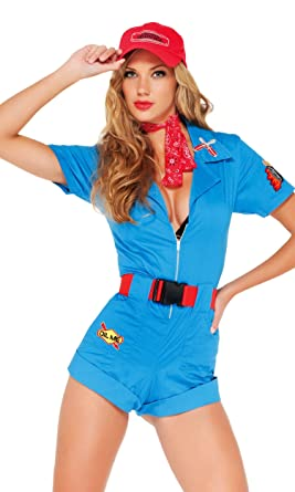 9ea0d1dc Forplay Women's Pitstop Hottie Adult Sized Costumes, Blue, Large/X-Large