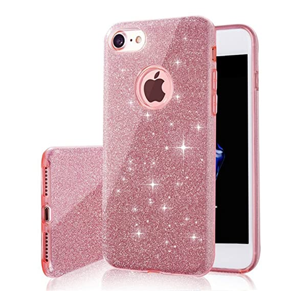 amazon com coac3 3 in 1 gradient glitter cover for iphone 5 5s se 6image unavailable image not available for color coac3 3 in 1 gradient glitter cover for iphone 5