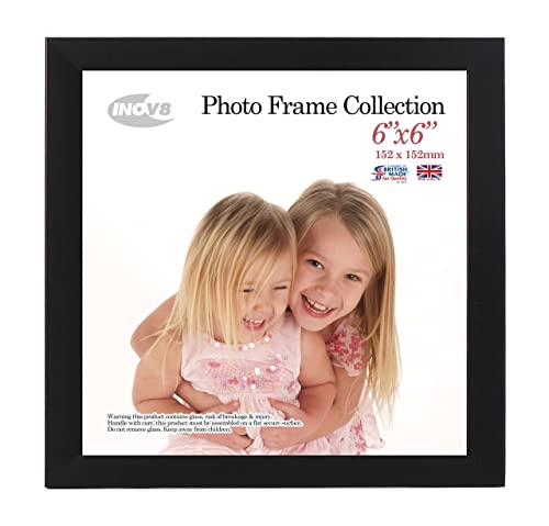 WHITE WOODEN EFFECT PICTURE PHOTO SQUARE FRAMES SIZE: 6\