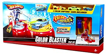 Mattel Hot Wheels Color Shifters Color Blaster Playset With