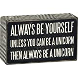 Primitives by Kathy Chevron Trimmed Box Sign, 3 x 5-Inches, Always Be Yourself