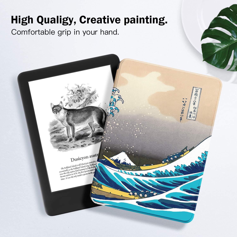 ,The Apricot Flower no encajar/á con Kindle Paperwhite o Kindle Oasis - Funda de Cuero de PU Compatible con el Kindle 2019 de 10/ª generaci/ón, versi/ón 2019 Estuche Ayotu para Kindle