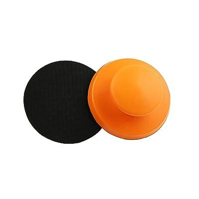 CHEN REFINISH Hook&Loop Diameter 125mm Orange Soft Premium Quality PU Material Classic Round Hand Pads: Industrial & Scientific