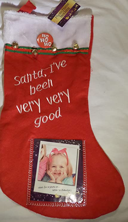 Photo Frame Christmas Stocking Simply Insert Your Own Photo