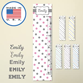 amazon com 321done personalized hanging growth chart polka dots
