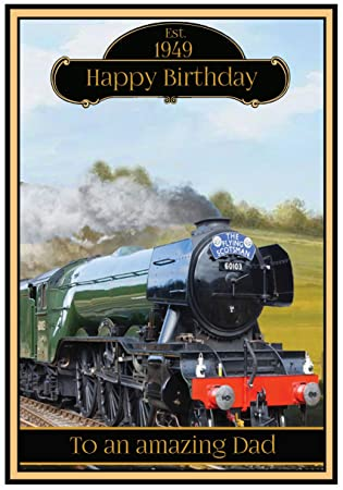 Personalised steam train birthday card 2 designs the flying personalised steam train birthday card 2 designs the flying scotsman bookmarktalkfo Image collections