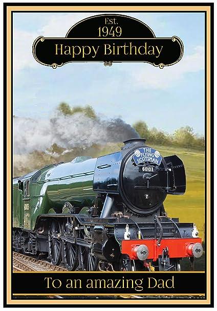 Tarjeta de cumpleaños con tren de vapor - 2 diseños ...