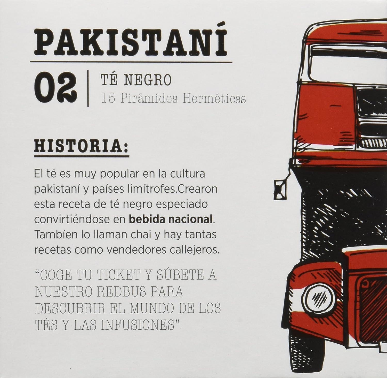 Redbus Té Pakistaní - 2 x 15 - Total: 30 Sobres: Amazon.es: Alimentación y bebidas