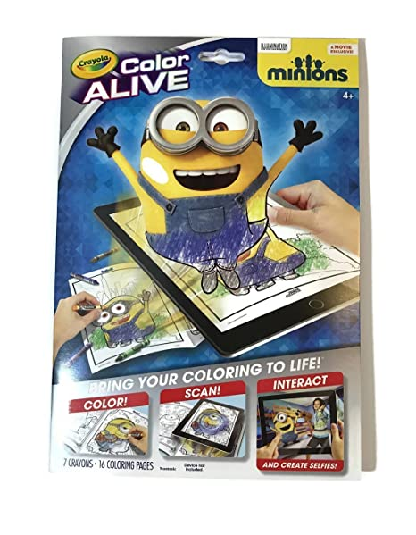 Crayola Color Alive Action Coloring Pages-Minions: Amazon.de ...
