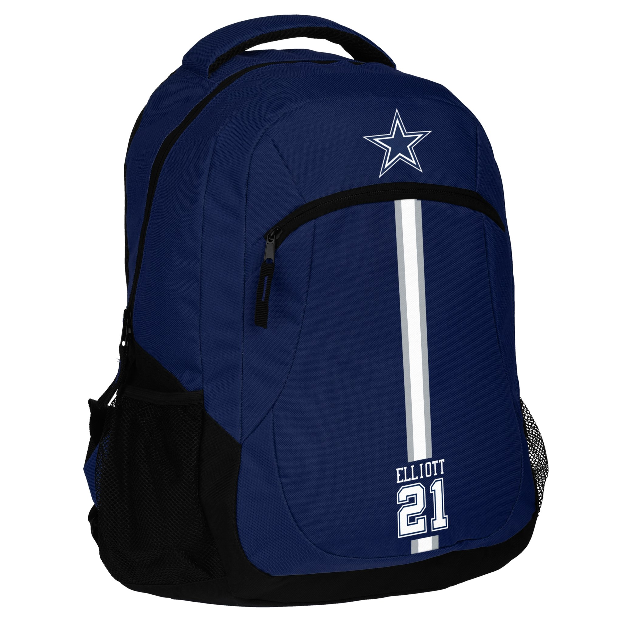 FOCO Dallas Cowboys Action Backpack School Gym Bag - Ezekiel Elliott #21 by FOCO