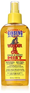Ginseng Miracle Wonder 8 Oil Hair/Body Mist, 7.5 Ounce