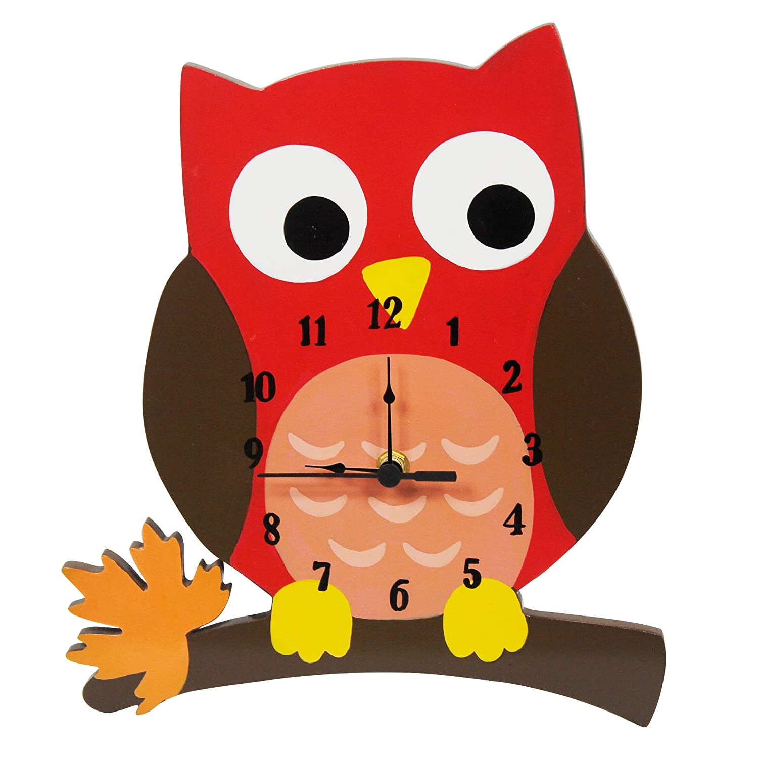 Fantasy Fields - Enchanted Woodland themed Kids Wall Clock Best for Nursery Room Decor | Hand Painted Details | Child Friendly Water-based Paint Teamson TD-11706A