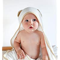 Baby and Toddler Organic Bamboo Cotton Hooded Towel – Bundle Up Your Little One in Our Super Soft Bath Towel