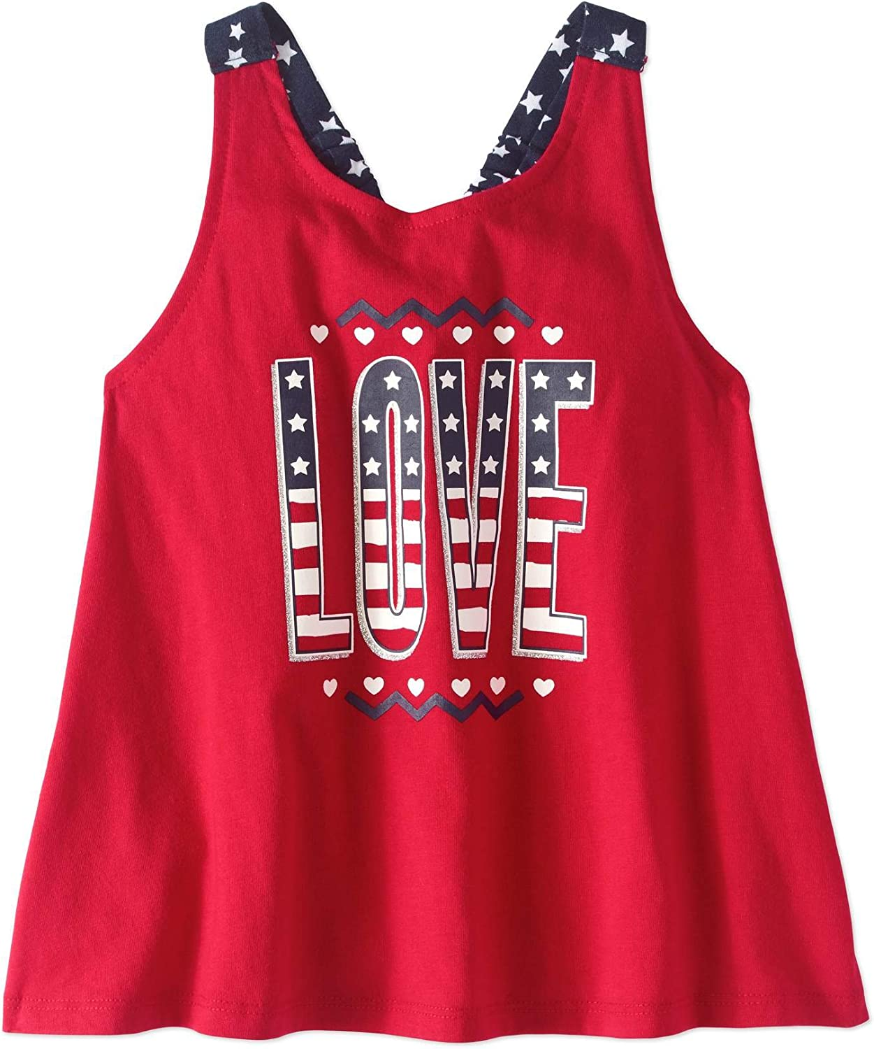 Sizes 2T-5T Assorted Toddler Girl 4th of July Graphic Tank Top Shirt