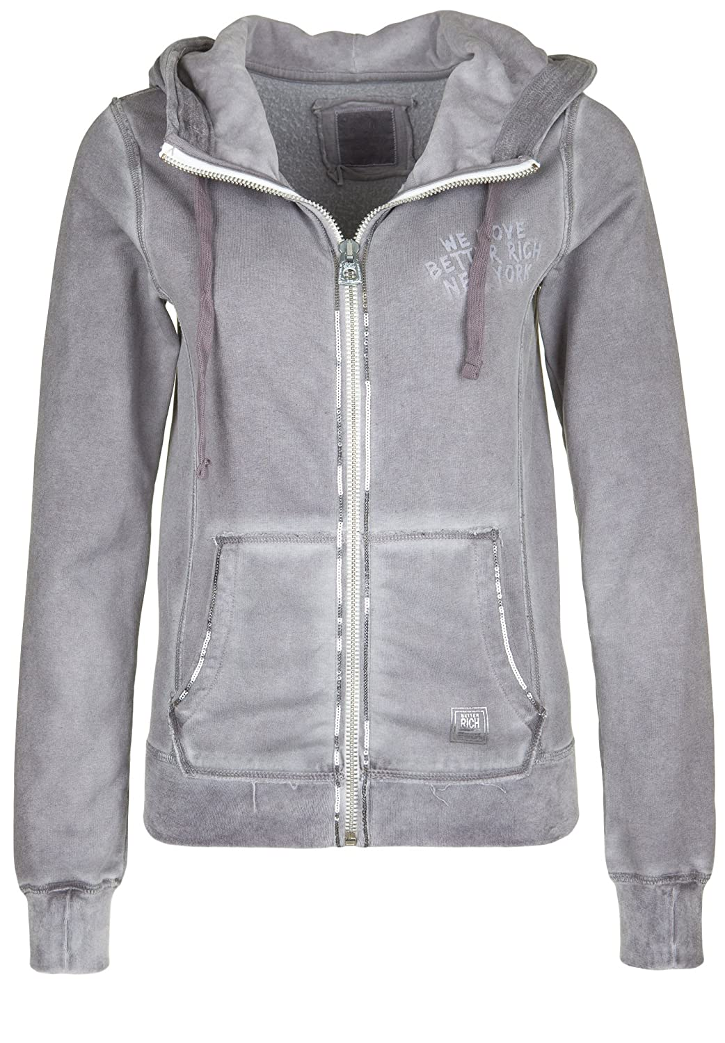 BETTER RICH Damen Kapuzensweatjacke PAILLETTE