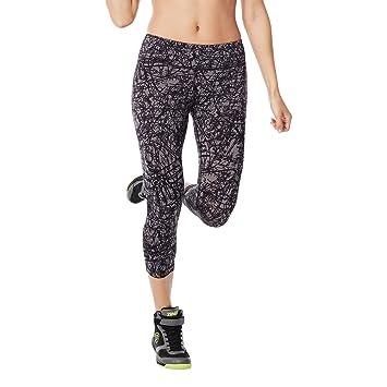 Amazon.com: Zumba Fitness Women's Scribble Perfect Capri Leggings ...