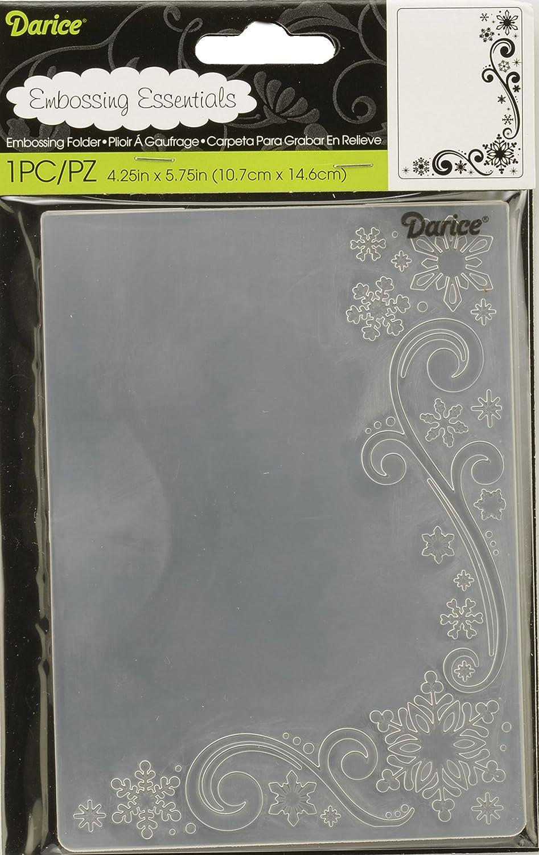 Snowflake Scroll Embossing folder