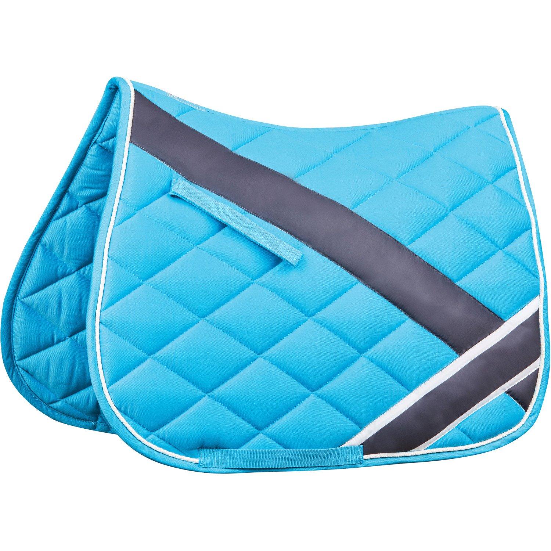 Roma Large Diamond Quilt All Purpose Saddle Pad Royal/Charcoal/White Full Weatherbeeta