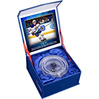 Connor McDavid Edmonton Oilers NHL Debut Crystal Puck - Filled With Ice From NHL… photo