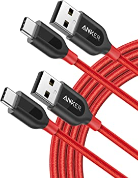 2-Pack Anker PowerLine+ USB-C to USB A 2.0 Cable