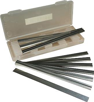 Caja de cuchillas reversibles de acero rápido de 10-82 mm para cepilladoras Makita, Black & Decker, Bosch, DeWalt y Elu: Amazon.es: Bricolaje y herramientas