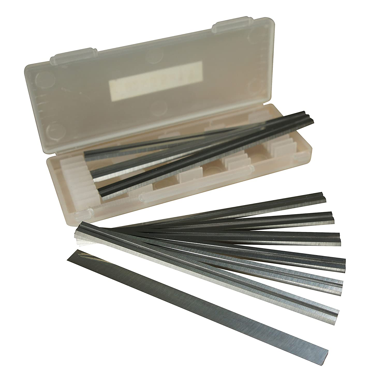 Boî te de 10– 82 mm en carbure ré versible Rabot Lames pour Makita, Black & Decker, Bosch, Dewalt et ELU rabots Prime Livraison Xcalibur