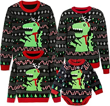 Amazon Com Simplee Kids Ugly Christmas Sweater Family Matching Outfits For Holiday Party Knitted Pullover Clothing