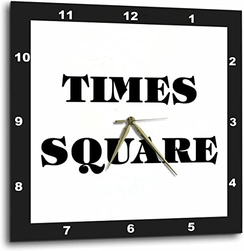 3dRose DPP_62656_3 Huge Words Saying Times Square Which is in New York Wall Clock, 15 by 15-Inch