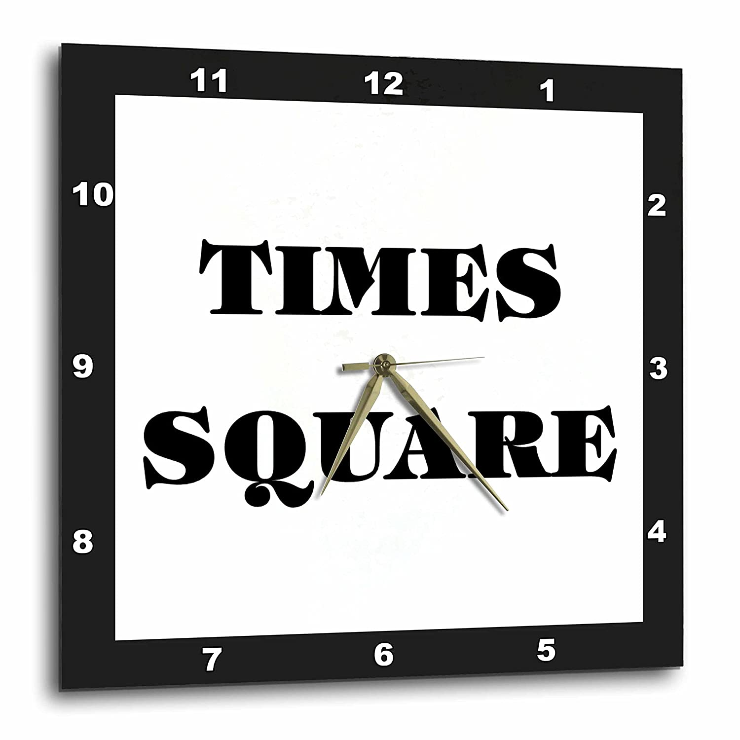 15 by 15-Inch 3dRose dpp/_62656/_3 Huge Words Saying Times Square Which is in New York Wall Clock