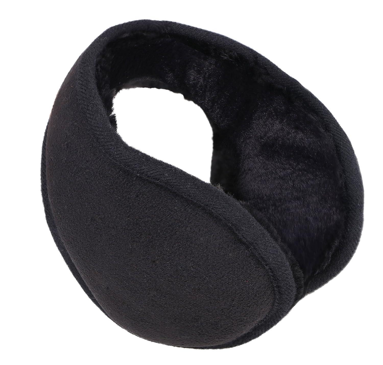 Simplicity Men Women Plush Ear Warmers Earmuffs for Outdoor Snowboarding, Black 88-B15499