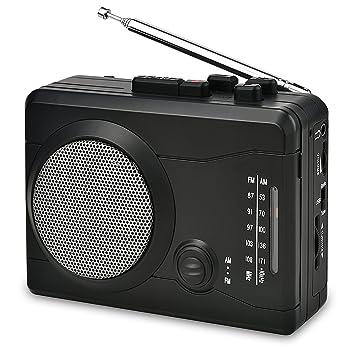 Reproductor de Casete USB Grabadora de Audio Personal con Altavoz, Cinta de Casete