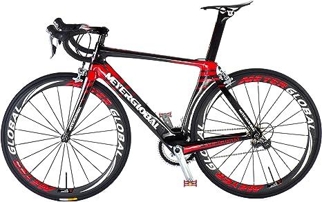 Bicicleta de carretera, carbono, 700 C, 50 mm, ruedas con logotipo ...