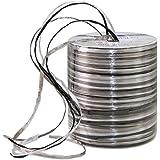 Präsent - coil rafia nastro decorazione (50), argento